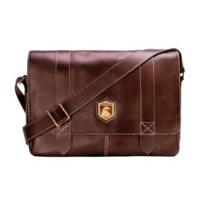 Bolsa masculina de couro para MacBook Schuster