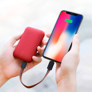 Mini bateria portátil – Duplo USB – 10.000mAh – ROCK